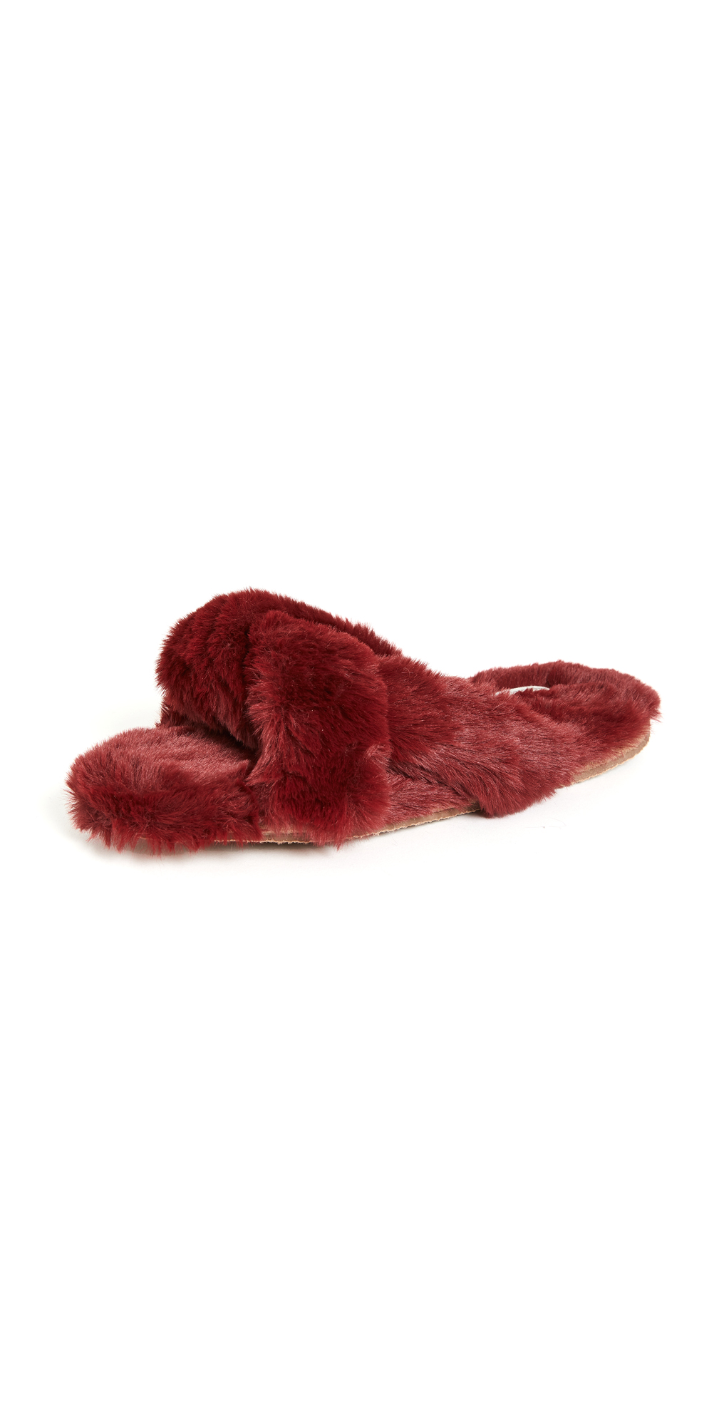 Madewell Crisscross Furry Slippers