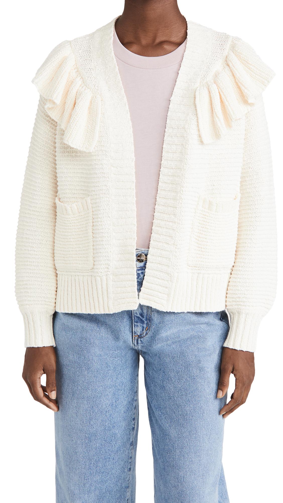 Madewell Ruffle Cardigan Sweater