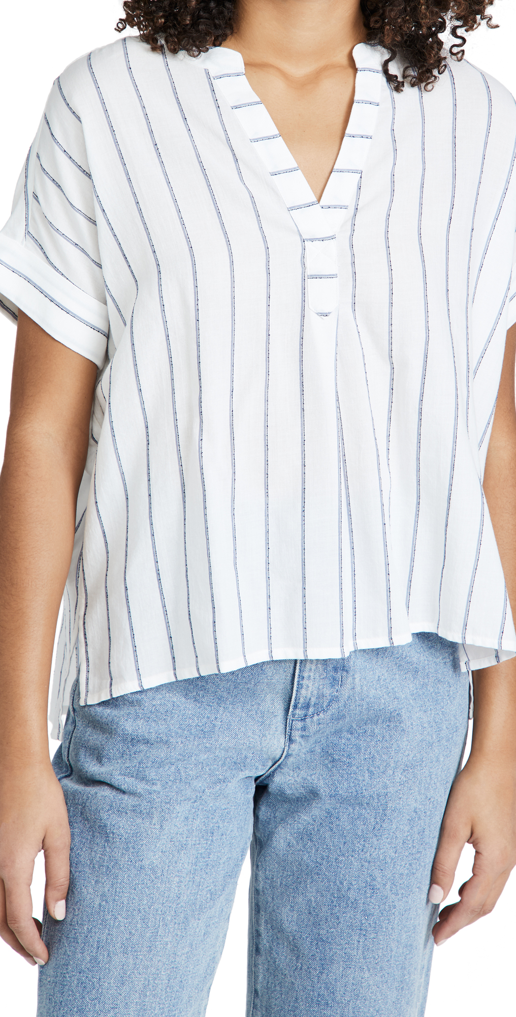 Madewell Lakeline Popover Shirt in Stripe