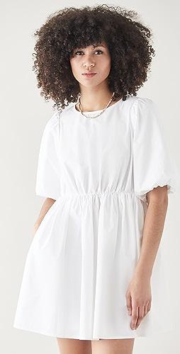 Madewell - Poplin Puff Sleeve Mini Dress