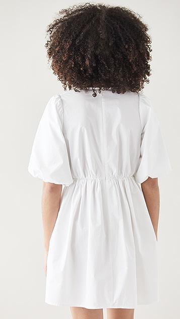 Madewell Poplin Puff Sleeve Mini Dress