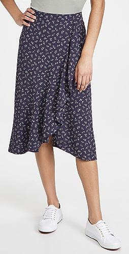 Madewell - 荷叶边中长半身裙