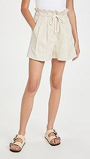 Madewell 自然白纸包短裤