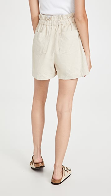 Madewell Natural Paperbag Shorts