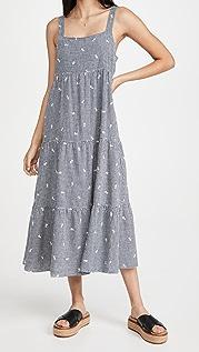 Madewell 层褶中长连衣裙