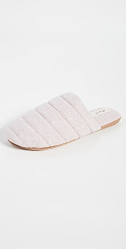 Madewell - Quilted Puffy Slippers