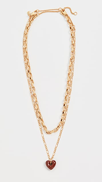 Madewell Puffy Heart Layer Necklace