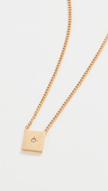 Madewell Small Square Pendant Necklace