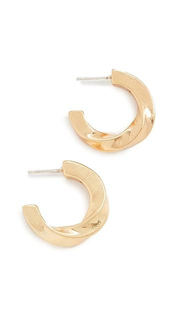 Madewell Archway Chunky Small Hoop Earrings