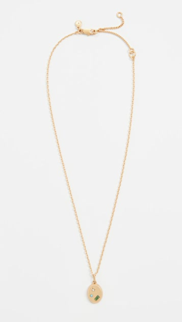 Madewell Finders Stone Pendant Necklace