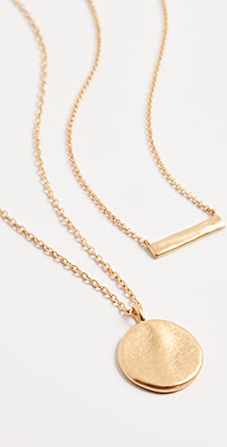 Madewell - Fine Hammered Coin Pendant Layer Necklace