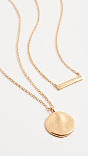 Madewell Fine Hammered Coin Pendant Layer Necklace