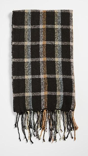 Madewell 轻薄格子围巾