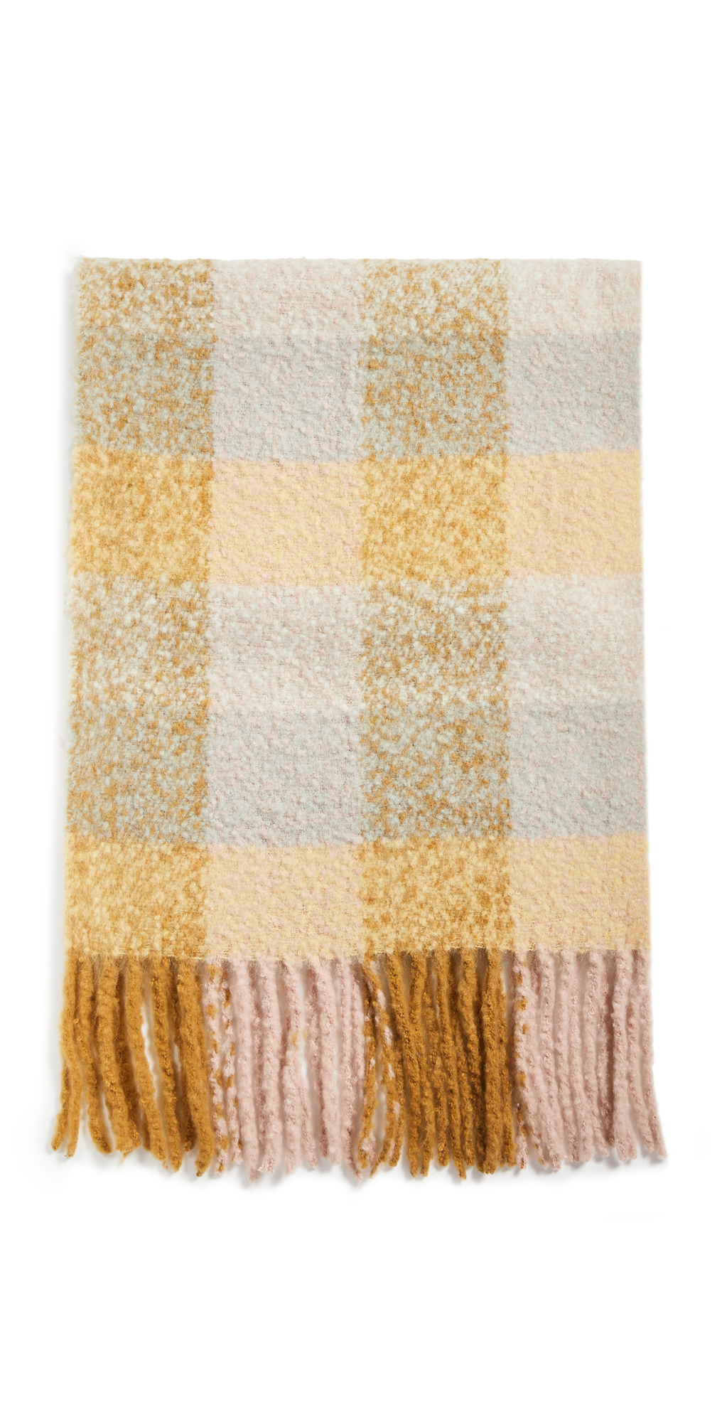 Madewell Brushed Oversized Plaid Scarf