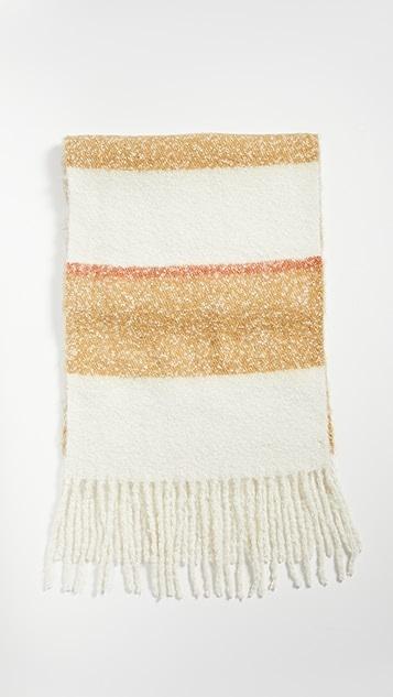 Madewell 起绒宽大格子围巾