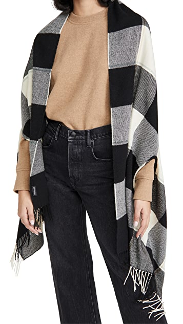 Madewell Plaid Cape Scarf