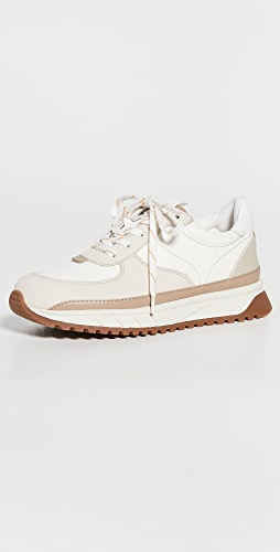 Madewell - Kickoff Trainer Sneakers in Neutral Colorblock Leather