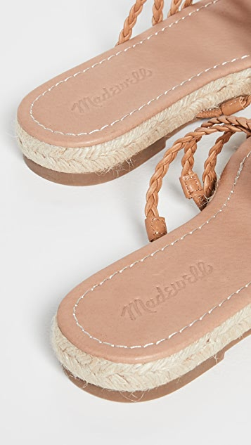 Madewell Bobbi 交叉梭织凉鞋