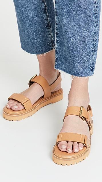 Madewell The Cady 沟纹鞋底凉鞋