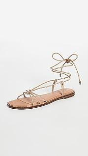 Madewell 编织系带平底凉鞋