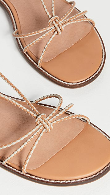 Madewell Braided Lace Up Flat Sandals