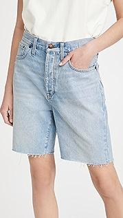 Madewell 宽松及膝牛仔布短裤