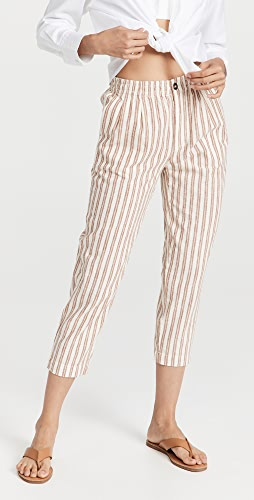 Madewell - 亚麻棉条纹运动裤