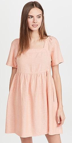 Madewell - Linen-Blend Allie Mini Dress