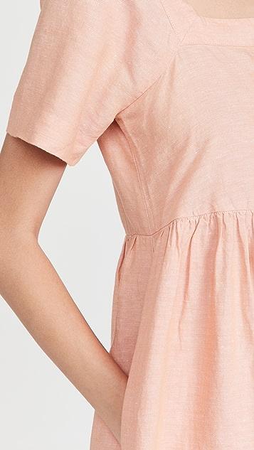 Madewell Linen-Blend Allie Mini Dress