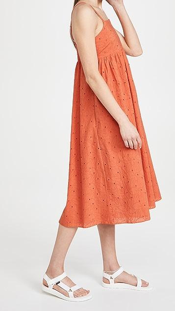 Madewell Cami Babydoll Midi Dress