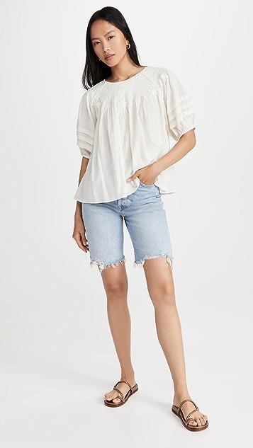 Madewell Retro Femme White Novelty Top