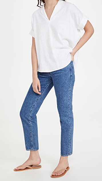 Madewell Giselle Top in White Linen