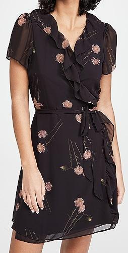 Madewell - Long Sleeve Ruffle Wrap Mini Dress