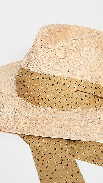 Madewell Leopard Trim Straw Hat