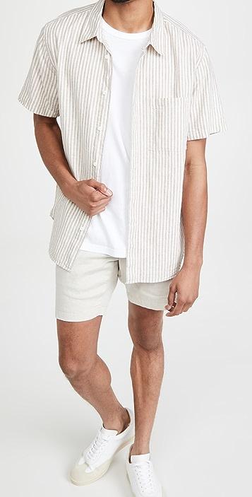 Madewell Linen-Cotton Perfect Short-Sleeve Shirt