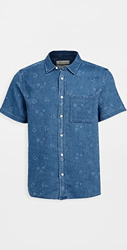 Madewell - Short Sleeve Perfect: Painted Boxes Print Shirt