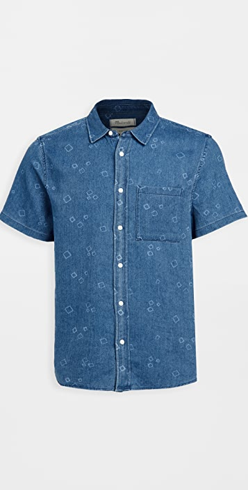 Madewell Short Sleeve Perfect: Painted Boxes Print Shirt