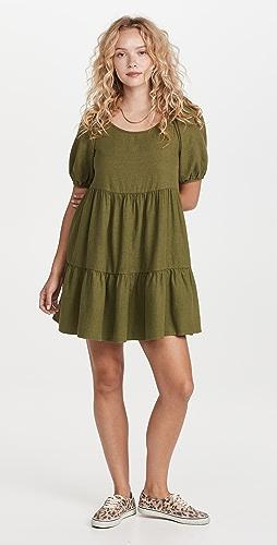 Madewell - Puff Sleeve Tiered Mini Dress