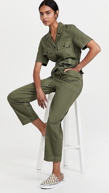 Madewell 绑带腰部军旅风格连体裤