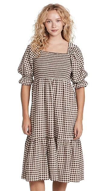 Madewell Smocked Midi Dress