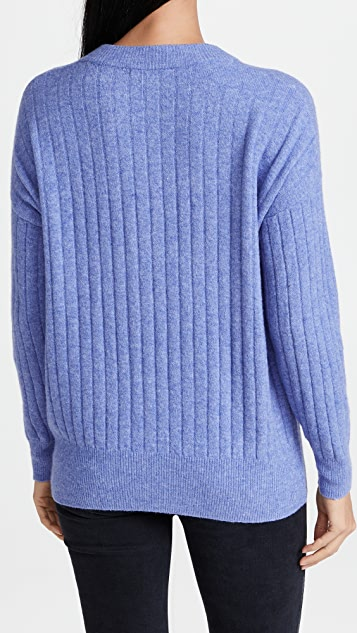 Madewell Cherry Ribbed Henley Sweater