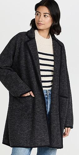 Madewell - Herringbone Dorinda Boiled Sweater Coat