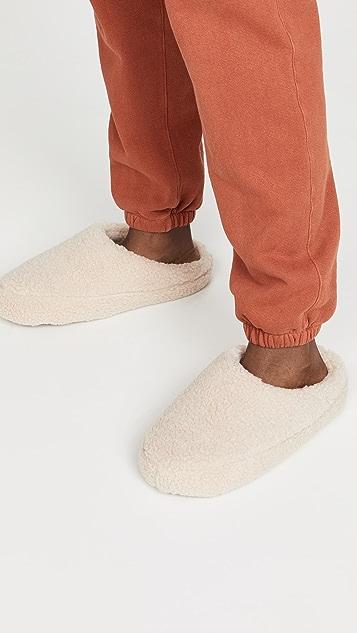 Madewell Sherpa Scuff Slippers