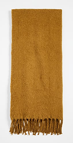 Madewell - Textured Solid Contrast Fringe Scarf
