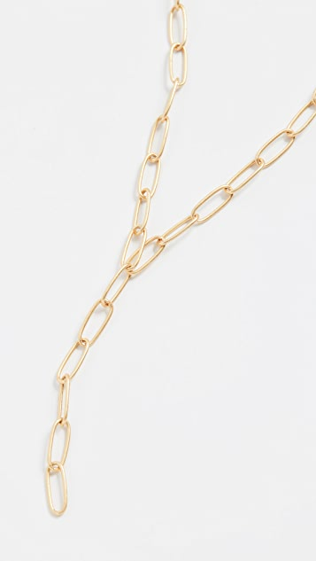Madewell Libby Paperclip Y Necklace