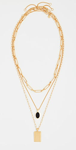 Madewell - Black Onyx Layer Necklace Pack