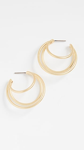 Madewell Double Prong Small Hoops
