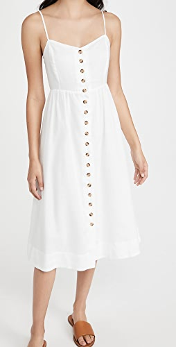 Madewell - Cami Button Front Midi Dress