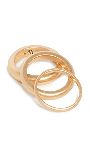 Madewell Chunky Stacking Ring Set
