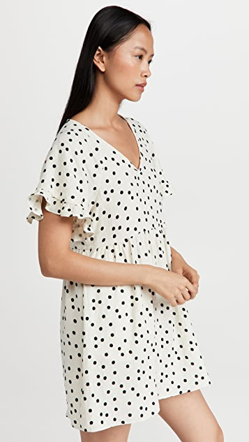 Madewell Lightspun Ruffle Sleeve Babydoll Dress